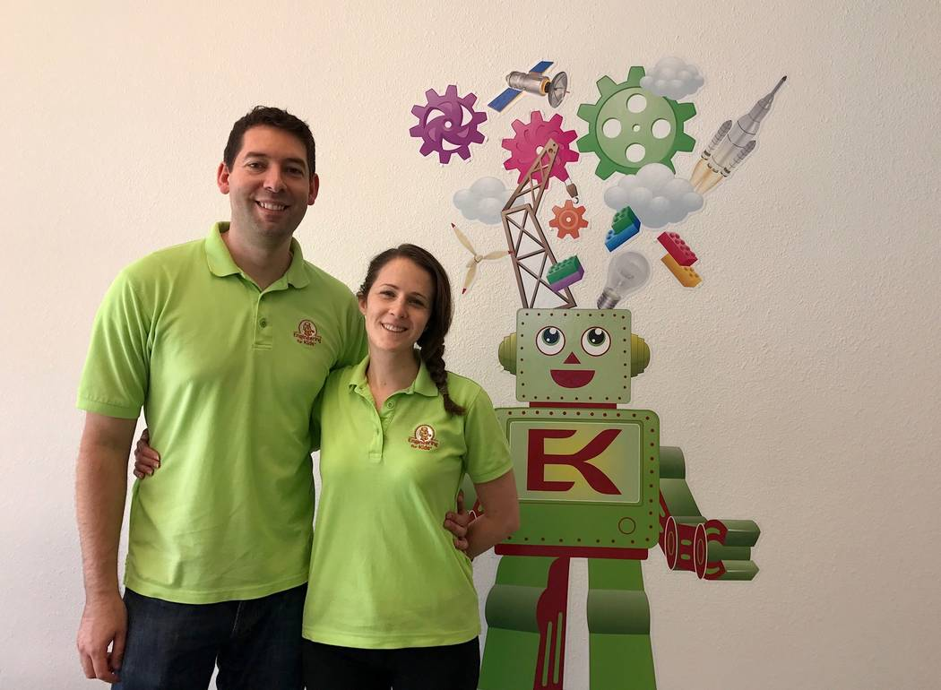 Leo and Elise Silva started an Engineering for Kids franchise in Southwest Las Vegas in the summer of 2015. (Madelyn Reese/View) @MadelynGReese