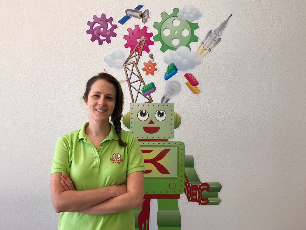 Elise Silva of Engineering for Kids, a science, technology, engineering and math program that offers classes and summer camps with hands-on learning projects. (Madelyn Reese/View) @MadelynGReese