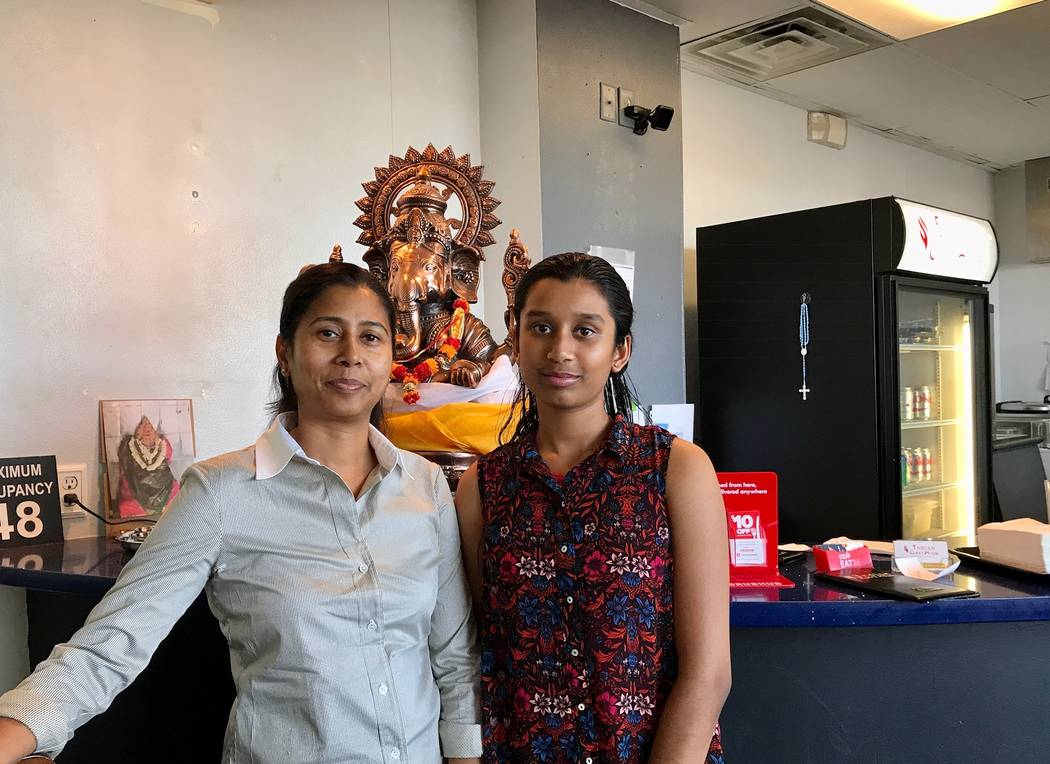 Ramadan R. and her only daughter, Drishikha Shanmugasundaram. (Madelyn Reese/View) @MadelynGReese