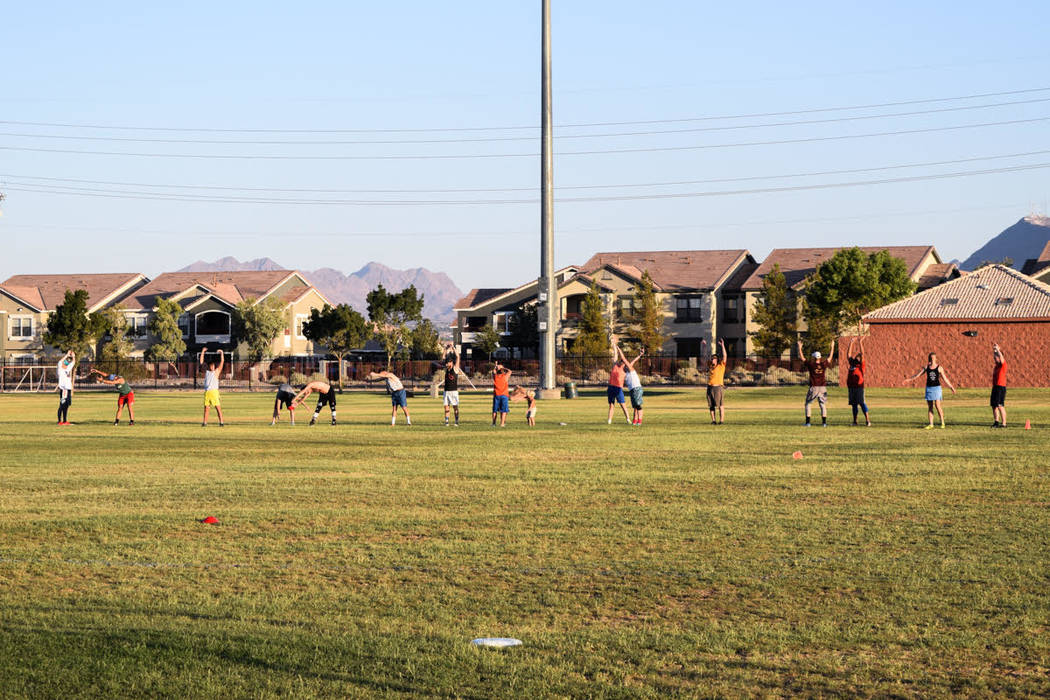 Las Vegas Ultimate plays as a mixed group, meaning both men and women play. (Alex Meyer/View) @alxmey