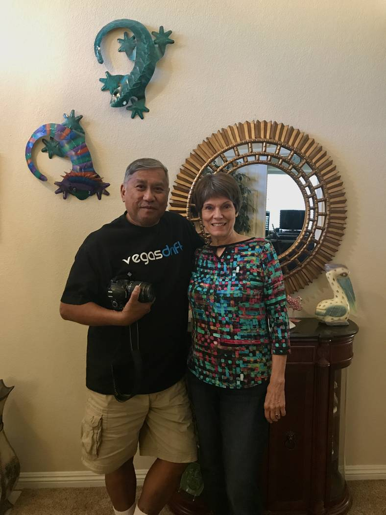 Ron and Diane Dizon in their home in North Las Vegas on June 27, 2017. (Madelyn Reese/View) @MadelynGReese