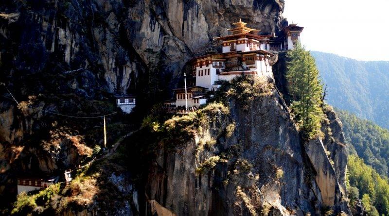 """Taktsang Monastery, known as the """"Tiger's Nest"""" in Paro, Bhutan. (Ronaldo Dizon)."""