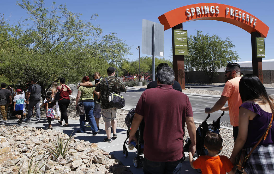People arrive for a Dia Del Nino celebration at the Springs Preserve on Saturday, April 29, 2017, in Las Vegas. Christian K. Lee Las Vegas Review-Journal @chrisklee_jpeg