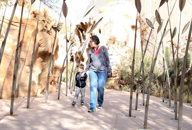 Michelle Banko of Henderson and her 3-year-old son Owen visit Springs Preserve on Thursday, Feb. 2, 2017, in Las Vegas.  (Bizuayehu Tesfaye/Las Vegas Review-Journal) @bizutesfaye