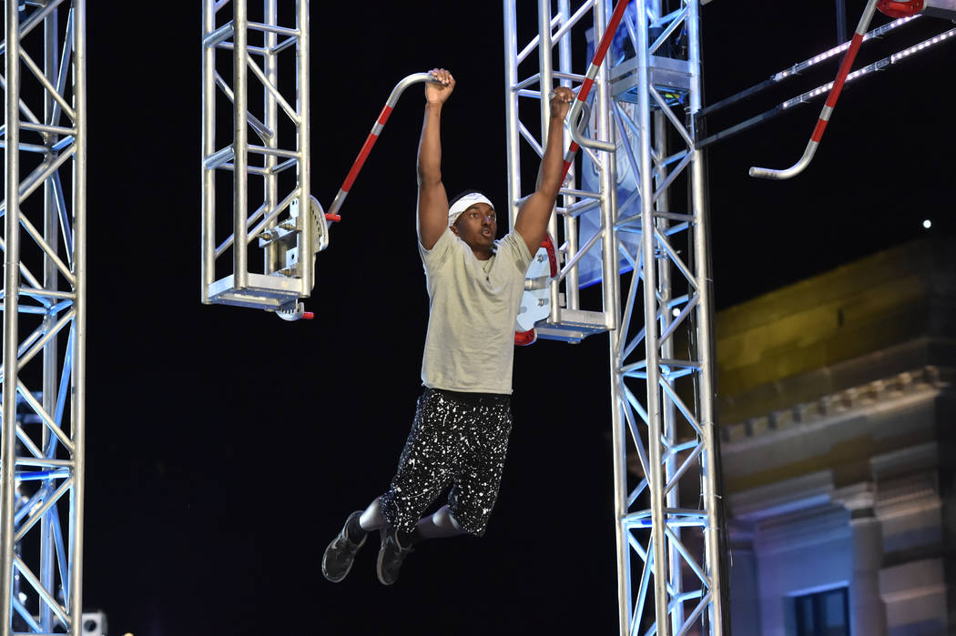 "AMERICAN NINJA WARRIOR -- ""Kansas City Qualifier"" -- Pictured: Jelani Allen -- (Photo by: Fernando Leon/NBC)"