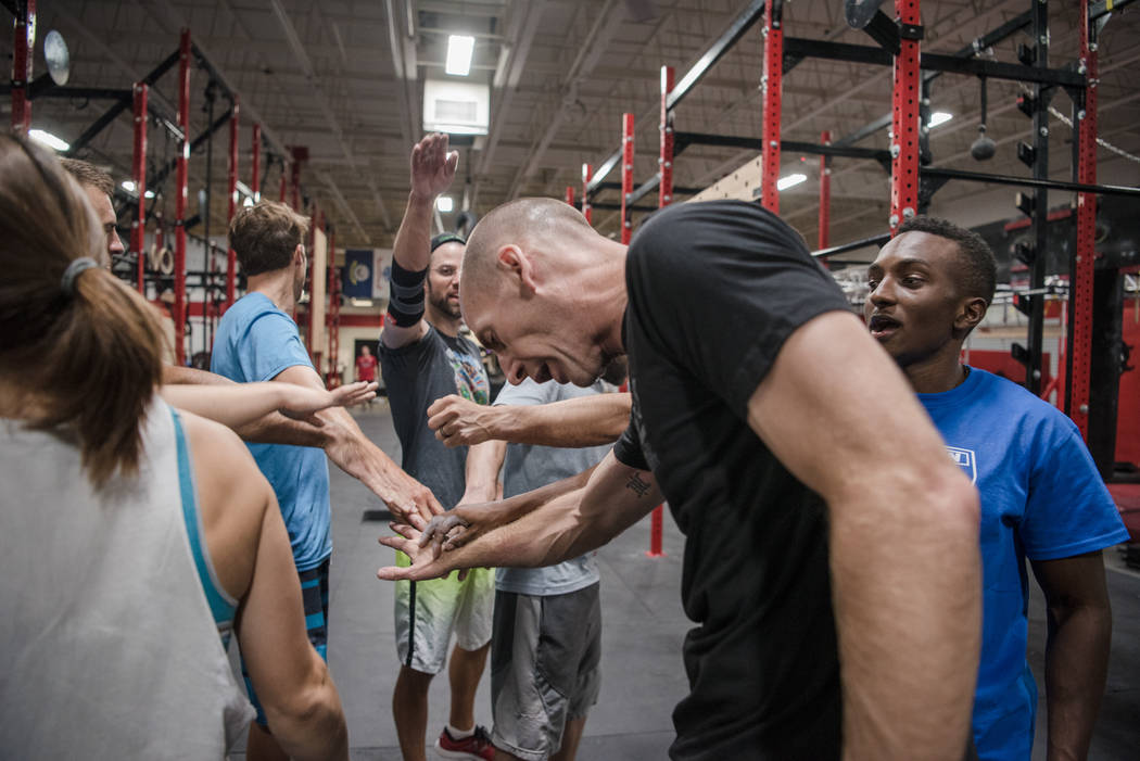 """American Ninja Warrior"" contestant Jelani Allen with his training group  at Camp Rhino on Tuesday, June 27, 2017, in Las Vegas. Morgan Lieberman Las Vegas Review-Journal"