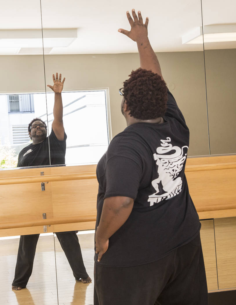 "Director Torrey Russell walks through a scene during rehearsal for Broadway in the Hood's show ""From Broadway With Love,"" on Tuesday, June 27, 2017, at Loft 5's studio, in Las Vegas. Benjamin Hage ..."