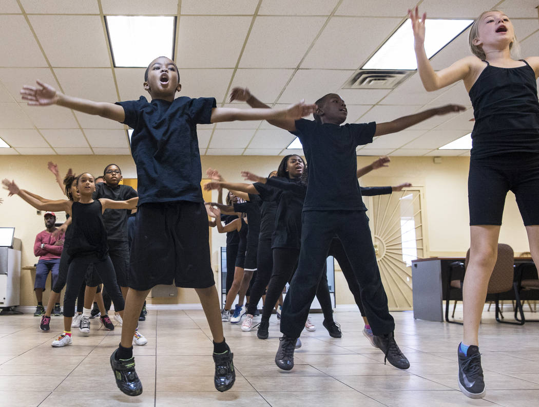 "Performers rehearse for Broadway in the Hood's show ""From Broadway With Love,"" on Wednesday, June 28, 2017, at First AME Church, in Las Vegas. Benjamin Hager Las Vegas Review-Jou ..."