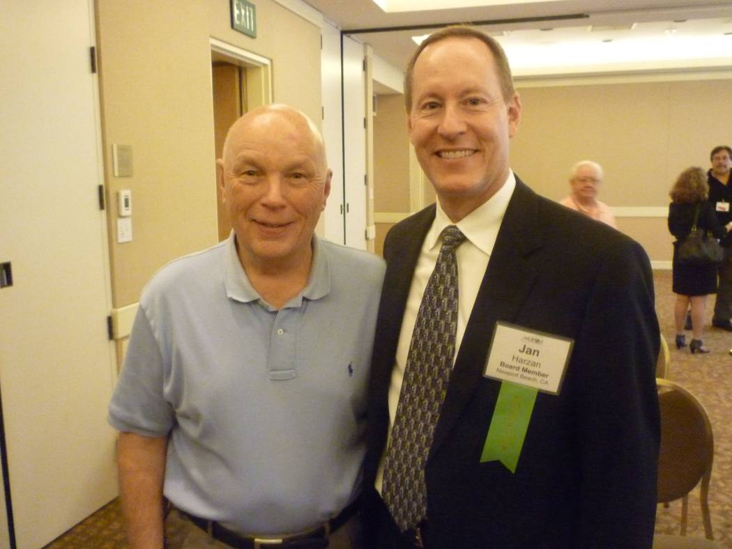 Mutual UFO Network executive director Jan Harzan and astronaut Story Musgrave, the keynote speaker for the 2011 MUFON Symposium in Irvine, California. (Handout)
