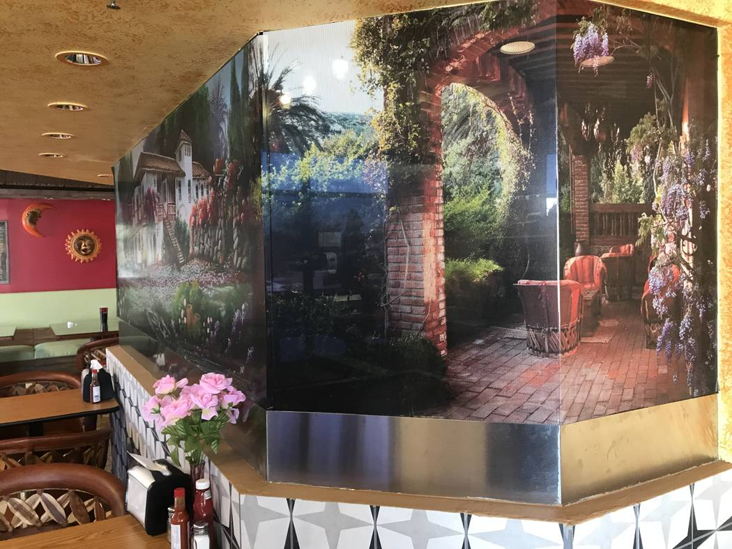 Decorations at El Nopal Mexican Grill, 955 W Craig Rd #100a, are inspired by homes in Mexico according to co-owner Maria Gonzalez. (Kailyn Brown/View) @KailynHype