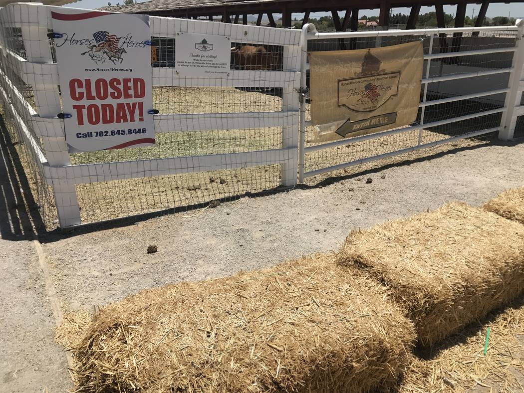 The Horses4Heroes Community Equestrian Center was closed during summer camp on June 27 at Floyd Lamb Park at Tule Springs. (Kailyn Brown/View) @KailynHype