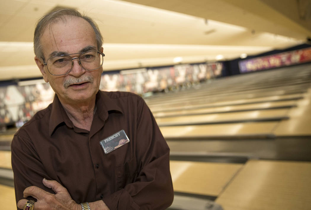 "North Las Vegas resident Victor ""Frenchy"" Letourneau, 72, an events ambassador for Santa Fe Station, at the Santa Fe Station Bowling Center on Wednesday, June 28, 2017.  Richard Brian Las Vegas Re ..."