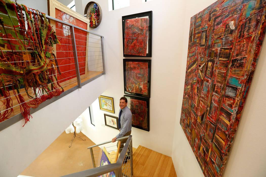 "David Straus shows his mother Joyce Straus' artworks at The ""House of Straus"" in Las Vegas, Monday, June 26, 2017. (Chitose Suzuki Las Vegas Review-Journal) @chitosephoto"