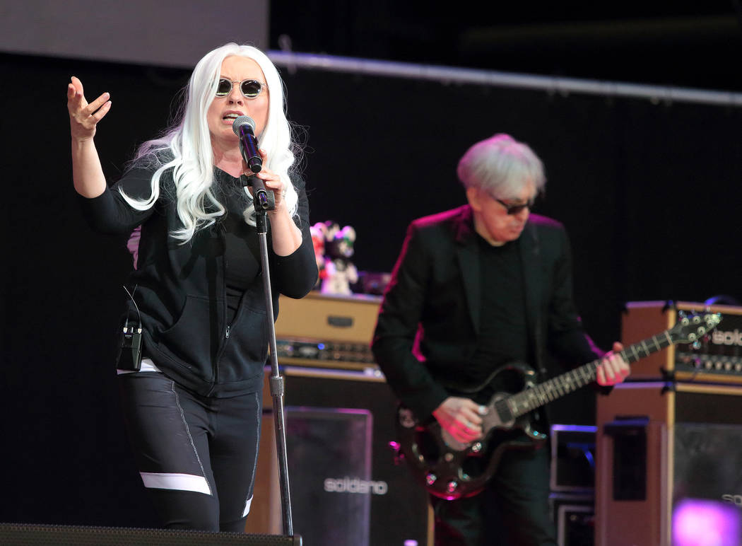 Debbie Harry, left, and Chris Stein of Blondie perform during the Sweetlife Festival at Merriweather Post Pavilion on Saturday, May 14, 2016, in Columbia, Md. Owen Sweeney Invision AP