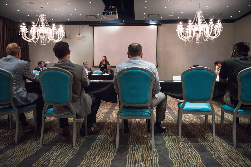 The esports committee meets at Downtown Grand hotel-casino on Tuesday, June 27, 2017, in Las Vegas. (Morgan Lieberman/Las Vegas Review-Journal)