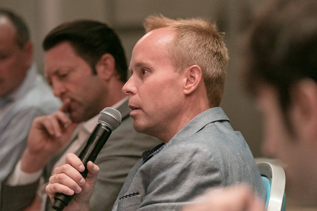 Montgomery Simus introduces himself at the esports committee at Downtown Grand hotel-casino on Tuesday, June 27, 2017, in Las Vegas. Morgan Lieberman Las Vegas Review-Journal