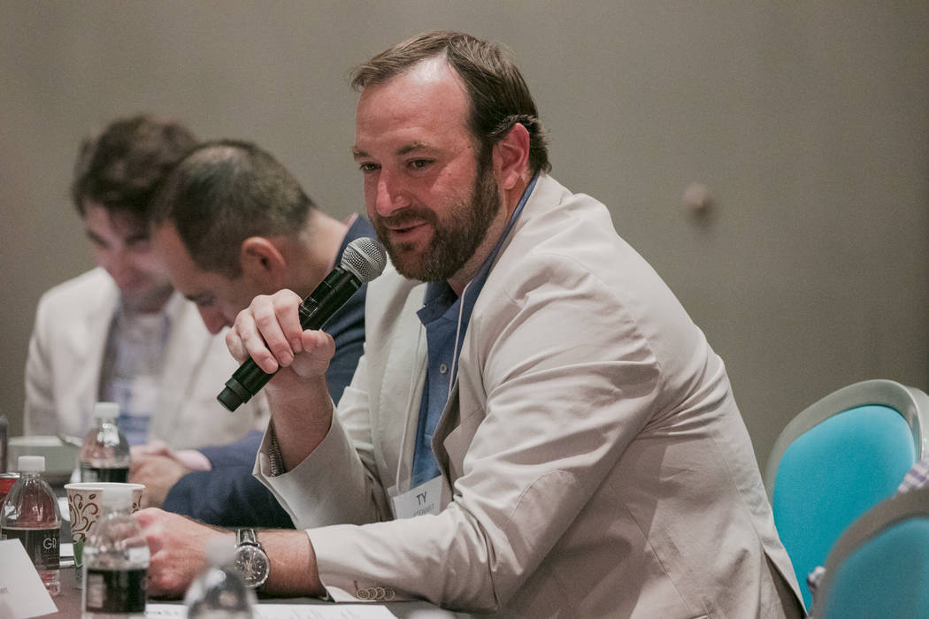 Ty Stewart of Caesars Entertainment speaks to the esports committee at Downtown Grand hotel-casino on Tuesday, June 27, 2017, in Las Vegas. Morgan Lieberman Las Vegas Review-Journal