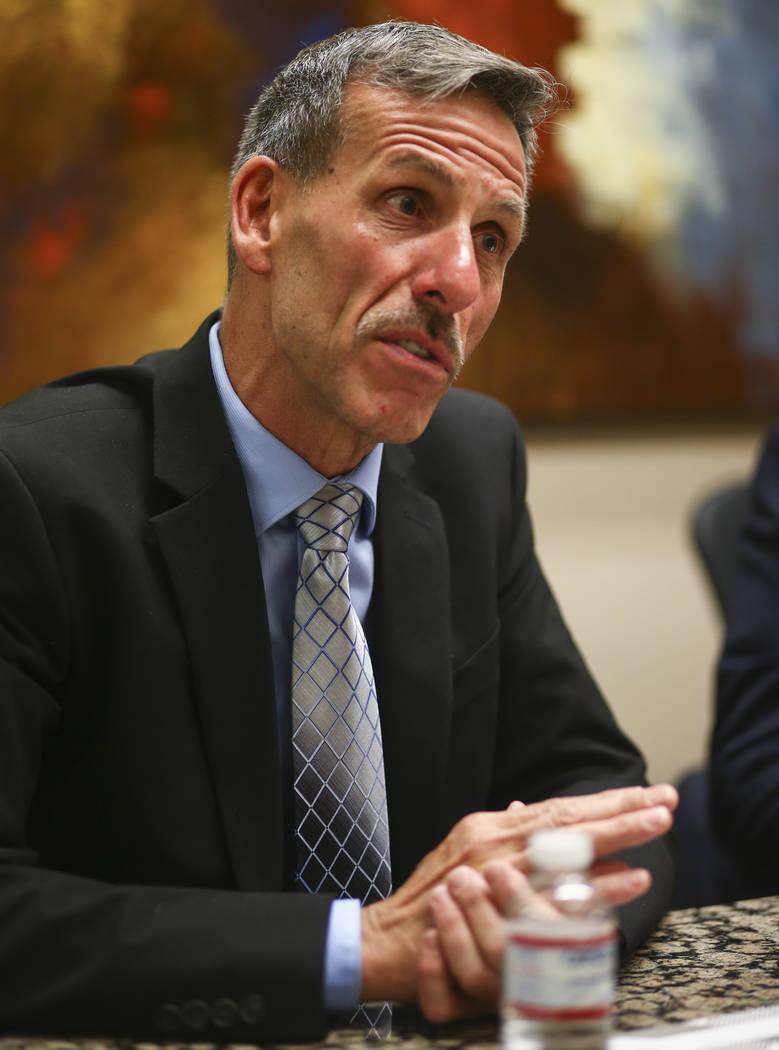 Rob Boynes at Pecos Law Group in Henderson on Thursday, July 6, 2017. (Chase Stevens/Las Vegas Review-Journal) @csstevensphoto