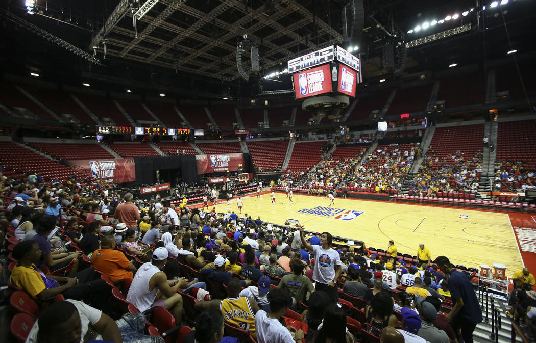 Thomas & Mack Center before the Cleveland Cavaliers take on the Milwaukee Bucks at the NBA Summer League in Las Vegas on Friday, July 7, 2017. Chase Stevens Las Vegas Review-Journal @csstevens ...