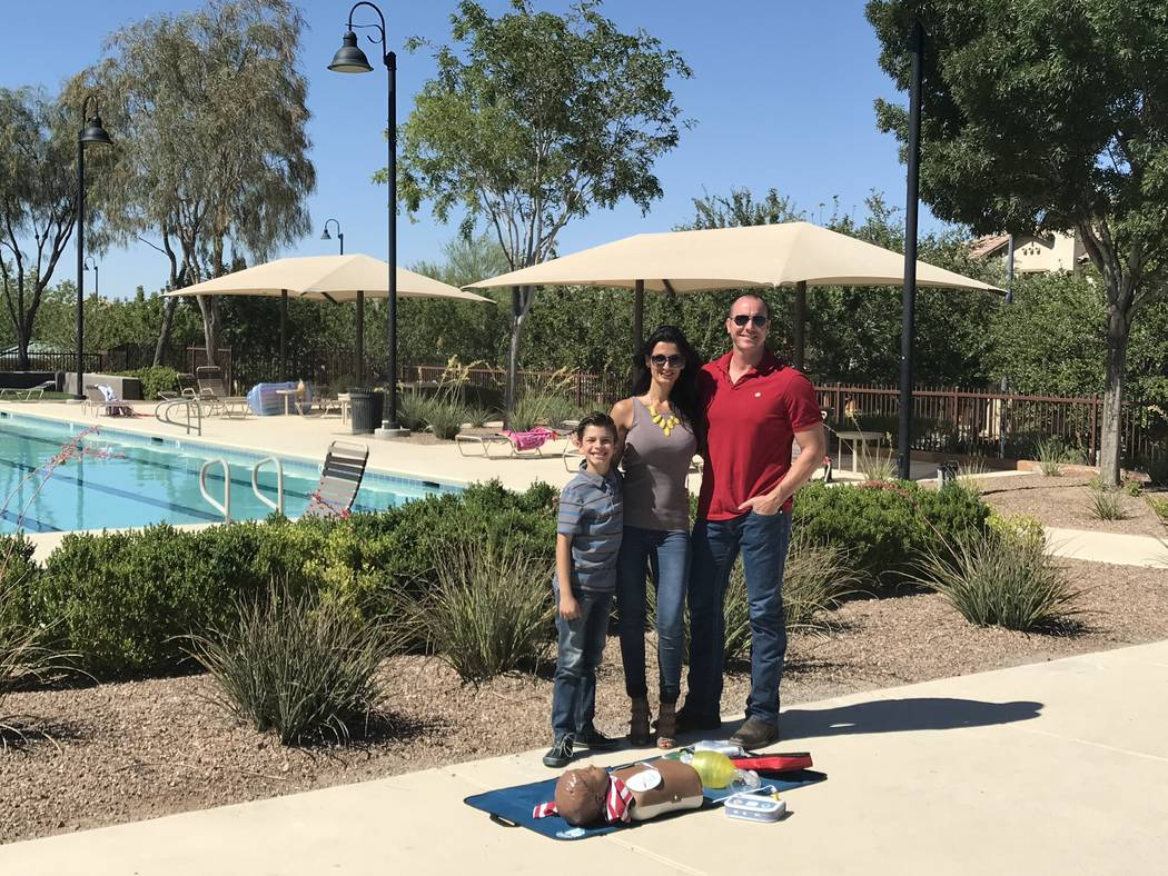 Ryan Franklin, his wife, Damiana, and step-son Philip are residents in Inspirada where they enjoy family-friendly lifestyle programming, lush walking and jogging trails, parks equipped with variou ...