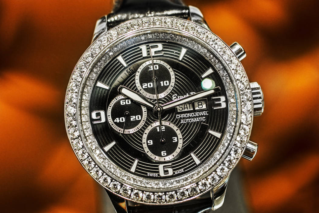 The Ernst Benz Chronojewel, with a retail price of $27,475, at Bezel on Friday, June 30, 2017, at the Hard Rock hotel-casino, in Las Vegas. Benjamin Hager Las Vegas Review-Journal @benjaminhphoto
