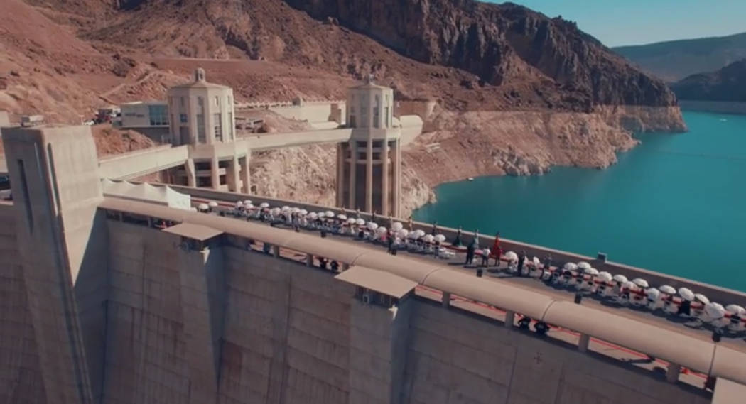 Jessica Minh Anh she transformed the Hoover Dam into a runway on June 26, 2017..