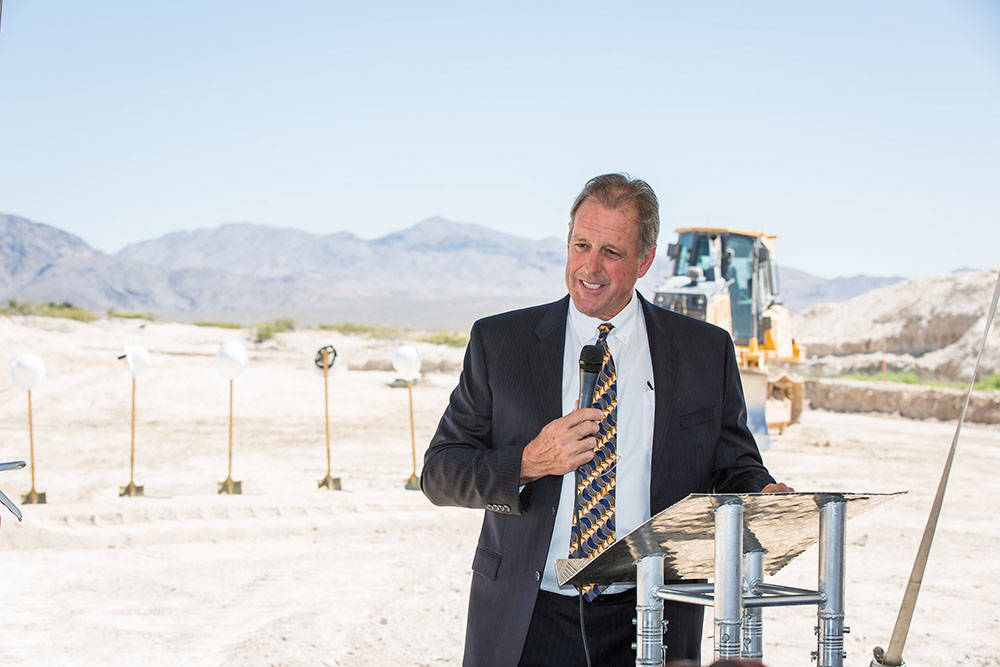 North Las Vegas Major John Lee speaks at a groundbreaking ceremony for Villages at Tule Springs in North Las Vegas was held June 27. (Villages at Tule Springs)