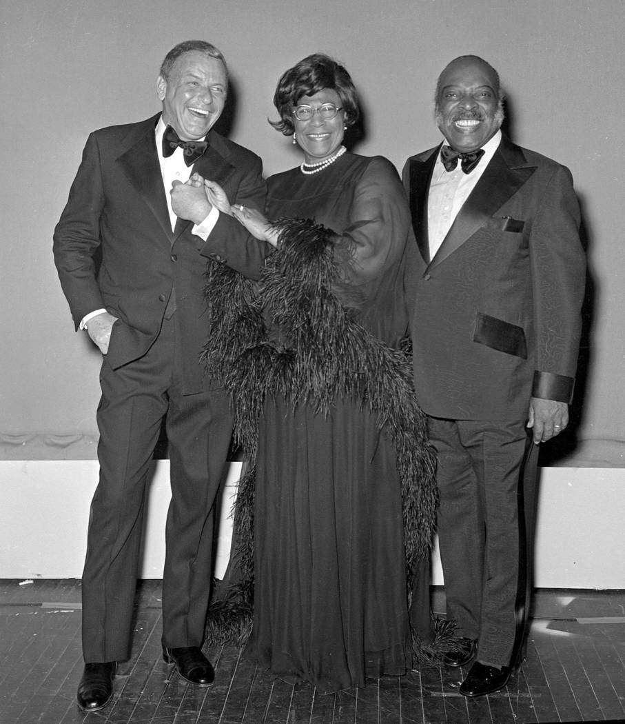 Frank Sinatra opening at Caesars Palace with Count Basie and Ella Fitzgerald June 6, 1974. Wolf Wergin/Las Vegas News Bureau
