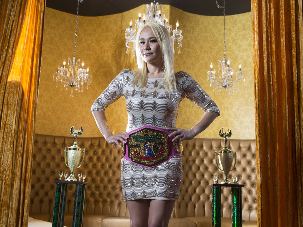Miki Sudo, three-time women's hot dog eating champion, looks to defend her title on July 4 at the 2017 Nathan's Famous International Hot Dog Eating Contest. Photo taken on Wednesday, June 28, 20 ...