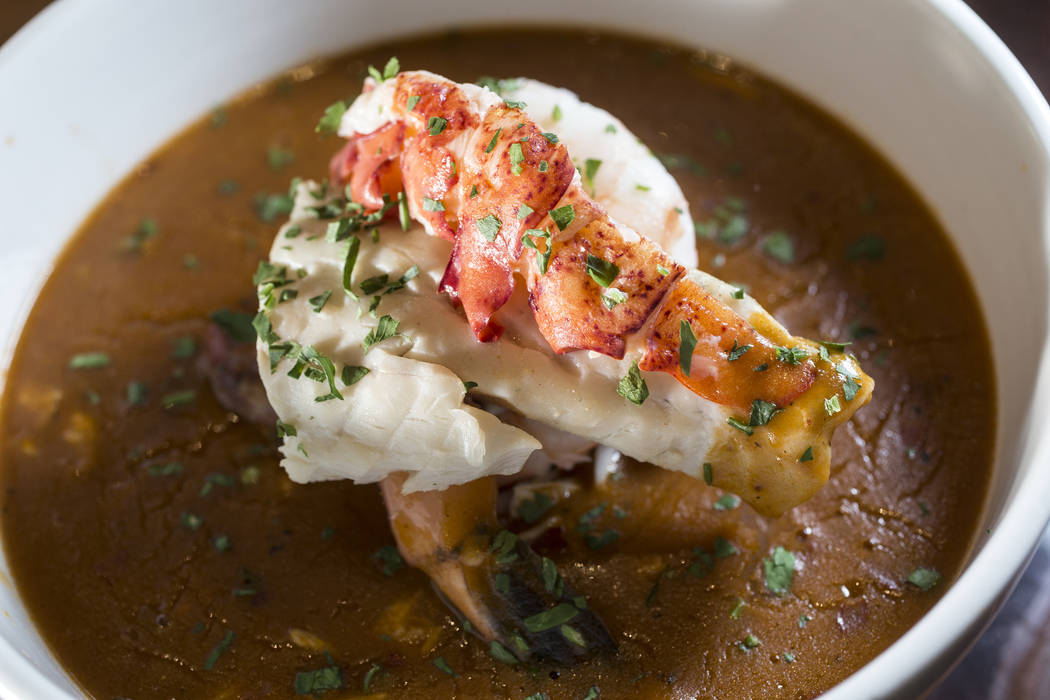 The All In Classic Pan Roast, with tomato, cream, brandy and creole at Oyster Bar on Wednesday, June 29, 2017, at the Hard Rock hotel-casino, in Las Vegas. Benjamin Hager Las Vegas Review-Journal  ...