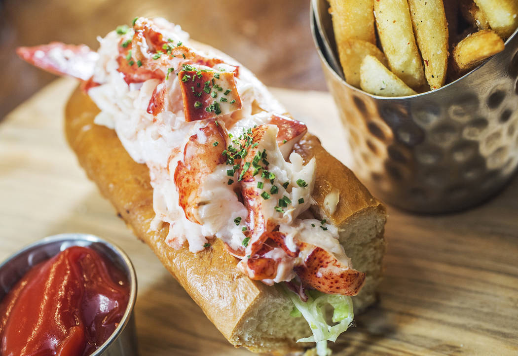 Lobster Roll, with Maine lobster and butter toasted roll at Oyster Bar on Wednesday, June 29, 2017, at the Hard Rock hotel-casino, in Las Vegas. Benjamin Hager Las Vegas Review-Journal @benjaminhphoto