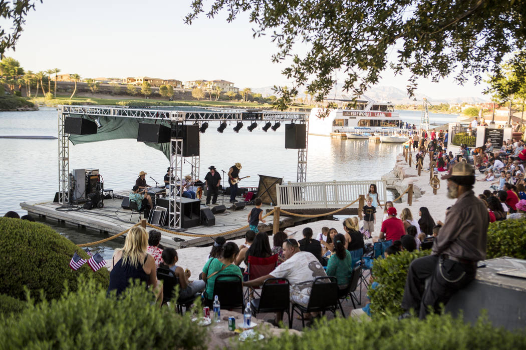 The band Southern Stue performs during Fourth of July weekend celebrations at Lake Las Vegas on Sunday, July 2, 2017.  Patrick Connolly Las Vegas Review-Journal @PConnPie