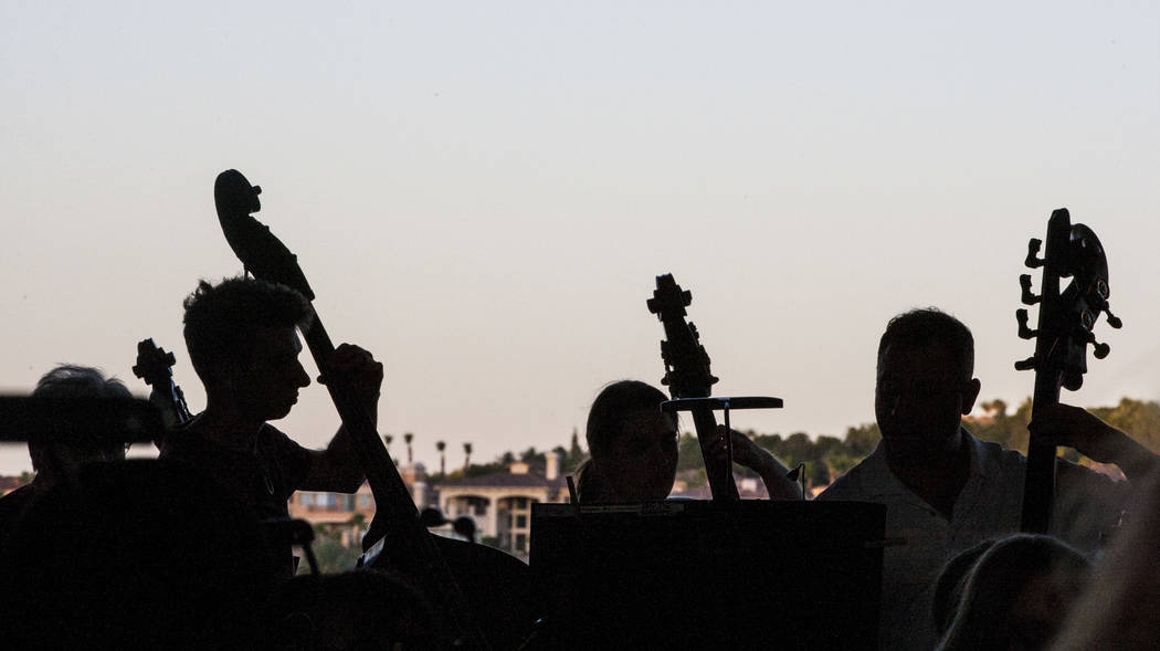 The Henderson Symphony Orchestra performs during Fourth of July weekend celebrations at Lake Las Vegas on Sunday, July 2, 2017.  Patrick Connolly Las Vegas Review-Journal @PConnPie
