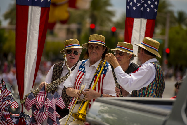 Musicians get ready to play during a previous Summerin Fourth of July parade. (Joshua Dahl/Las Vegas Review-Journal)