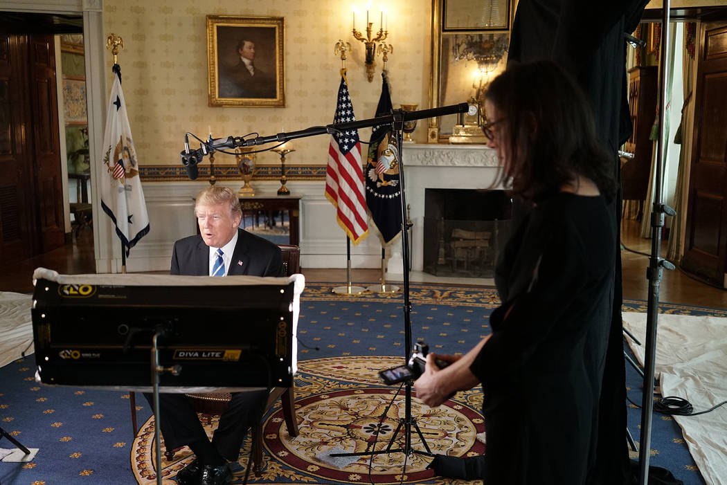 Donald Trump, Alexandra Pelosi from THE WORDS THAT BUILT AMERICA photo:courtesy of HBO