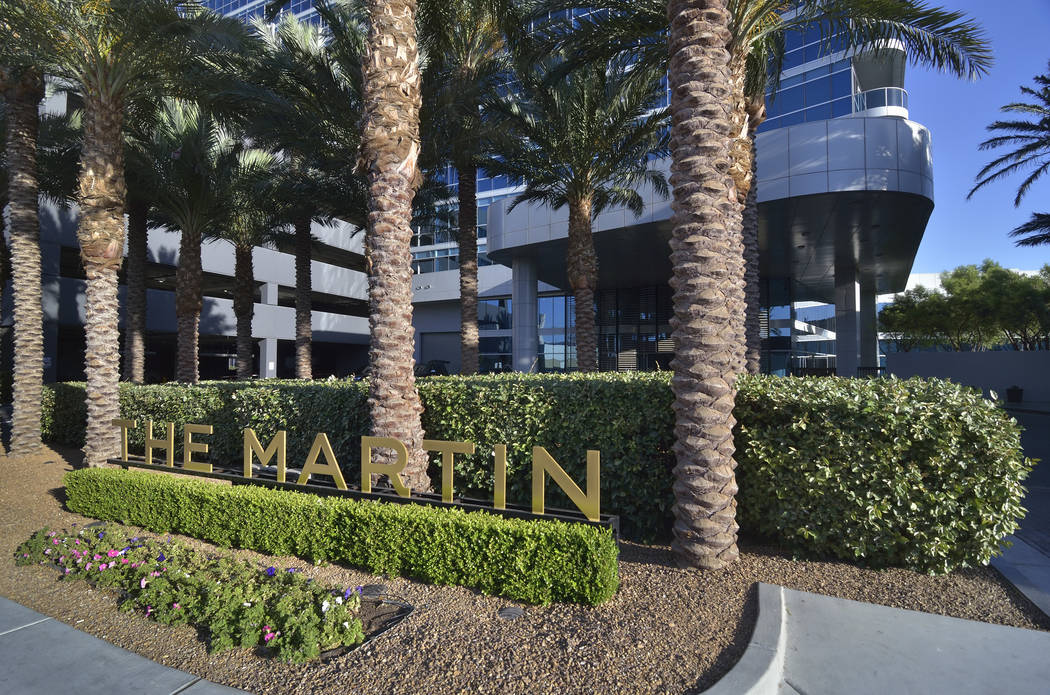 The Martin at 4471 Dean Martin Drive was built in 2009. (Bill Hughes Real Estate Millions)