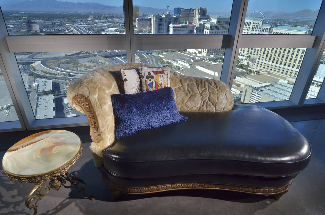 The penthouse has views of the Strip. (Bill Hughes Real Estate Millions)