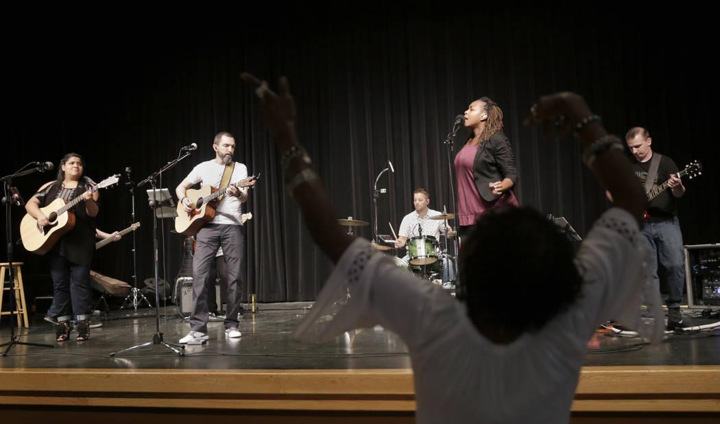 Between Sundays performs at the Historic Fifth Street School in Las Vegas, Saturday,July 8, 2017.  (Gabriella Angotti-Jones Las Vegas Review-Journal @gabriellaangojo)