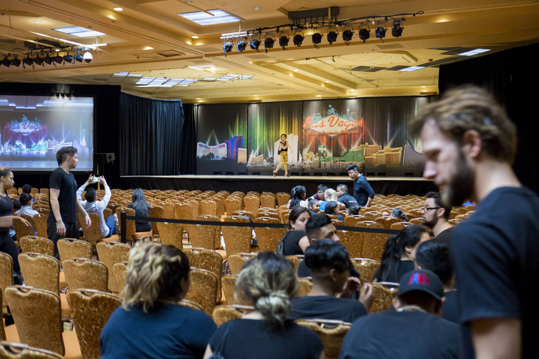 Technical rehearsal is underway for performances  during the Las Vegas Salsa Bachata Congress at the Tropicana hotel-casino in Las Vegas, Sunday, July, 2, 2017. Elizabeth Brumley Las Vegas Review- ...