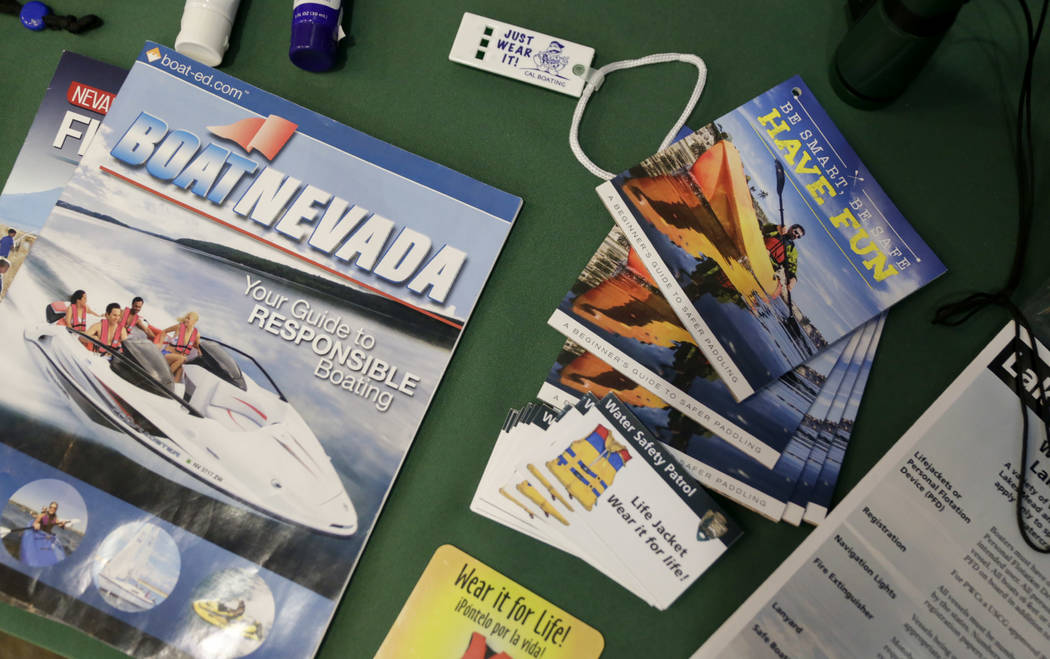 The water safety display at the Lake Mead Visitor Center in the Lake Mead National Recreation Area, Saturday, July 1, 2017. Gabriella Angotti-Jones Las Vegas Review-Journal @gabriellaangojo