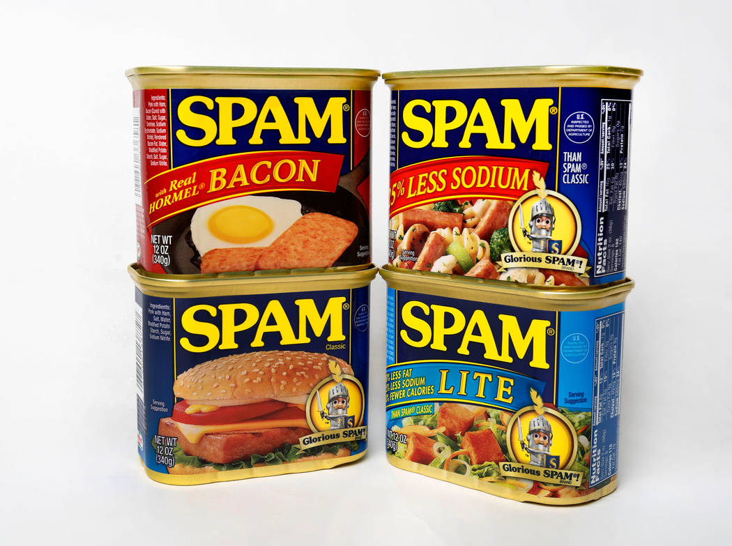 Four cans of SPAM in Las Vegas, Monday, July 3, 2017. Chitose Suzuki Las Vegas Review-Journal @chitosephoto
