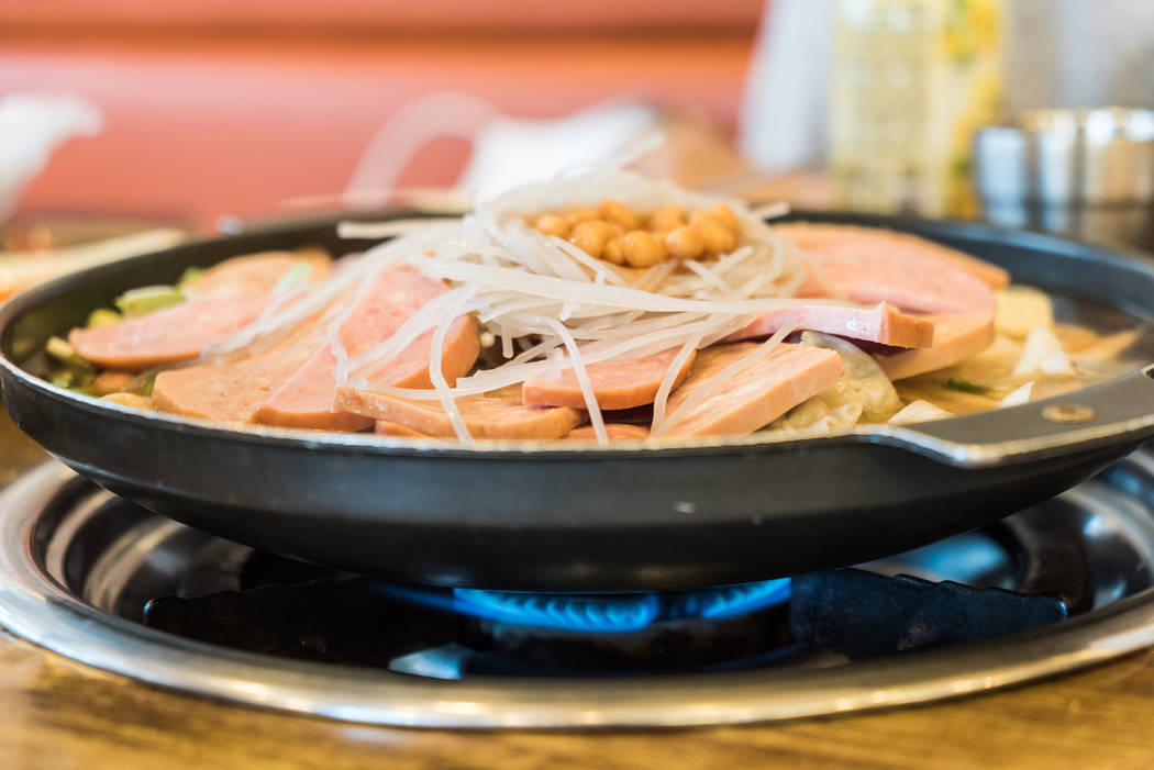 Army Hot Pot, famous food in South Korea.