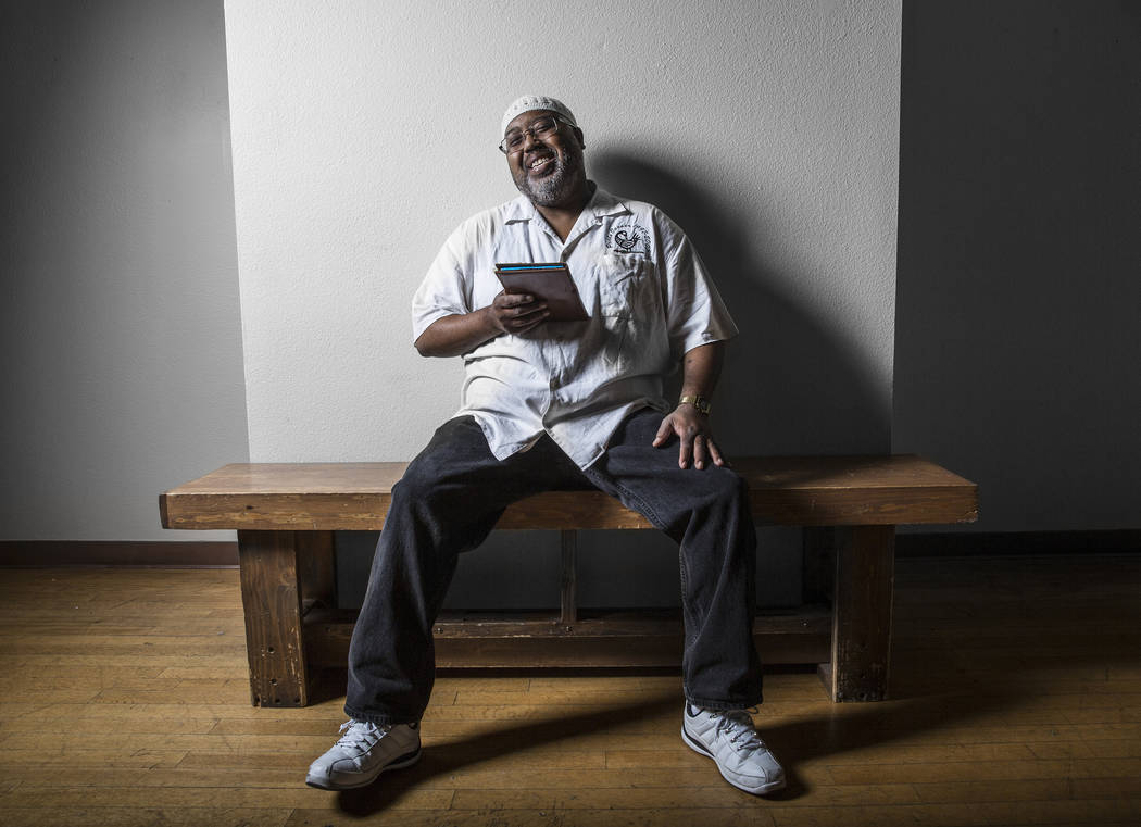 Keith Brantley has hosted the Poets' Corner open mic readings at West Las Vegas Arts Center for the past 20 years. Photo taken on Tuesday, June 27, 2017, at the West Las Vegas Arts Center in Las V ...