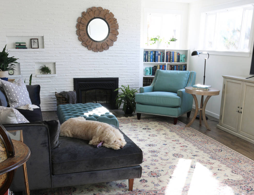 """Pure Publicity A converted basement serves as the family room at the Seattle home of Melissa Michaels, author of """"Simple Decorating: 50 Ways to Inspire Your Home."""""""