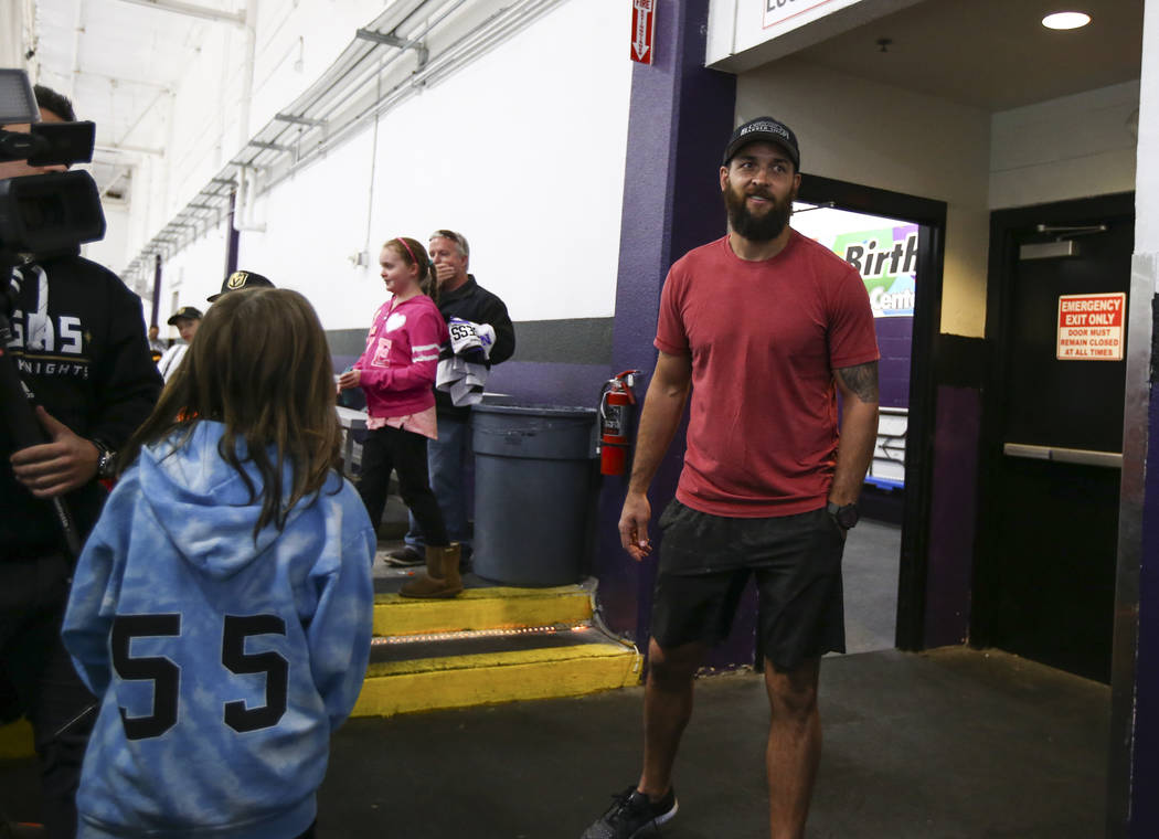Vegas Golden Knights' Deryk Engelland at the Las Vegas Ice Center in Las Vegas on Friday, June 30, 2017. Chase Stevens Las Vegas Review-Journal @csstevensphoto