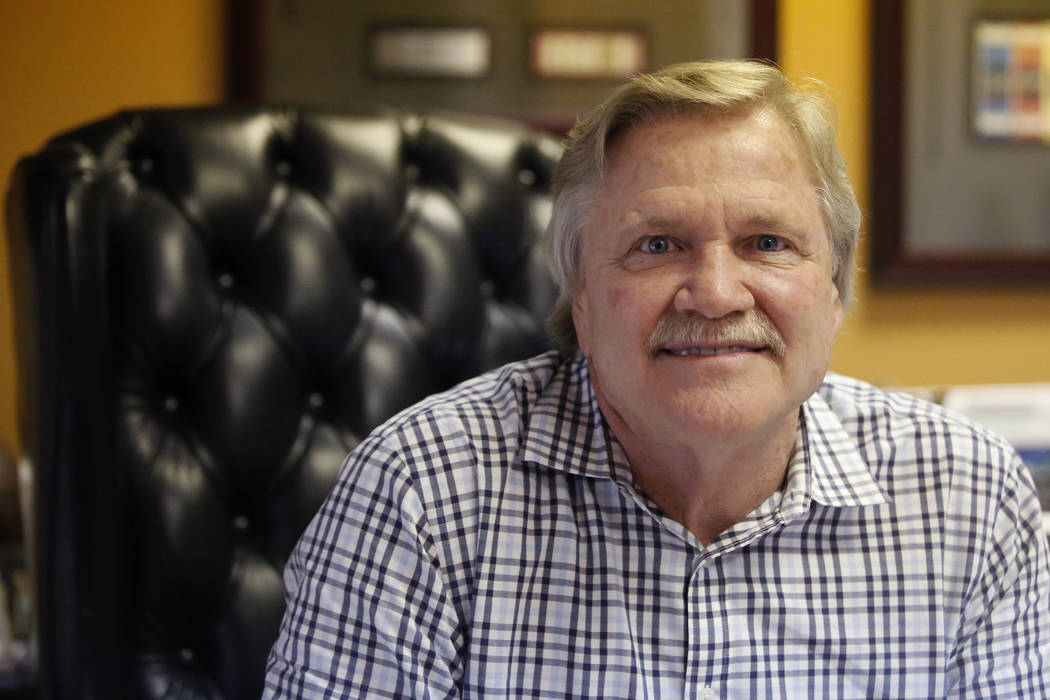Pat Christenson in his office on Wednesday, March 22, 2017, in Las Vegas. Christenson is the president of Las Vegas Events and has helped bring many special events to Las Vegas. (Christian K. Lee/ ...
