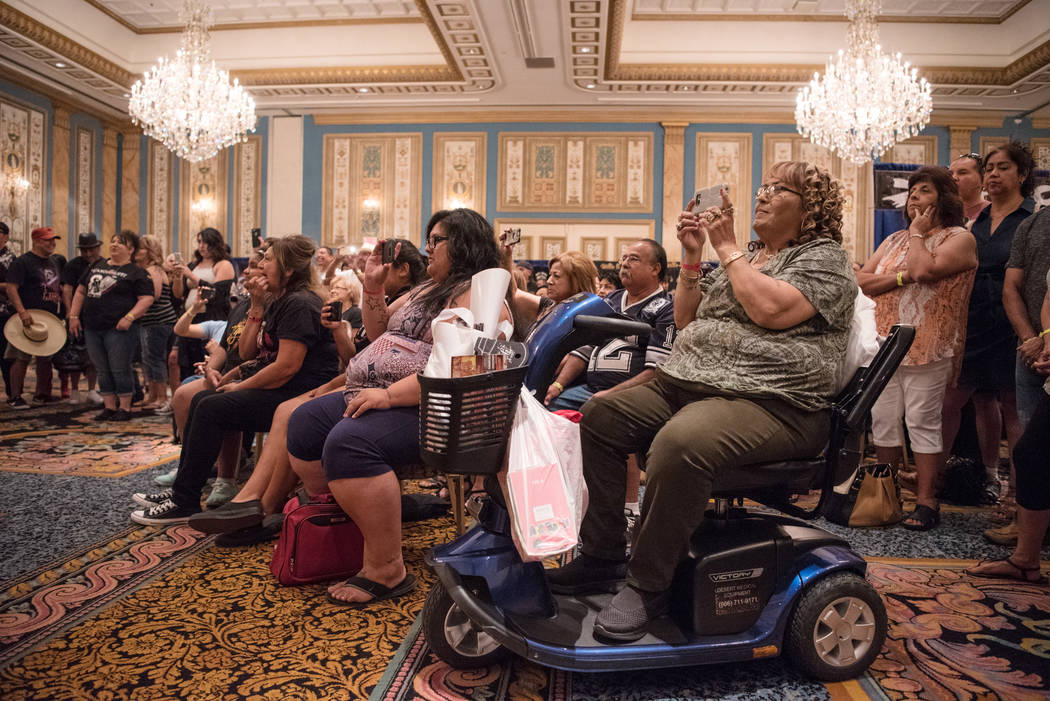 Attendees of the Tejano Music National Convention watch a musical performance at Paris hotel-casino on Saturday, July 1, 2017, in Las Vegas. Morgan Lieberman Las Vegas Review-Journal