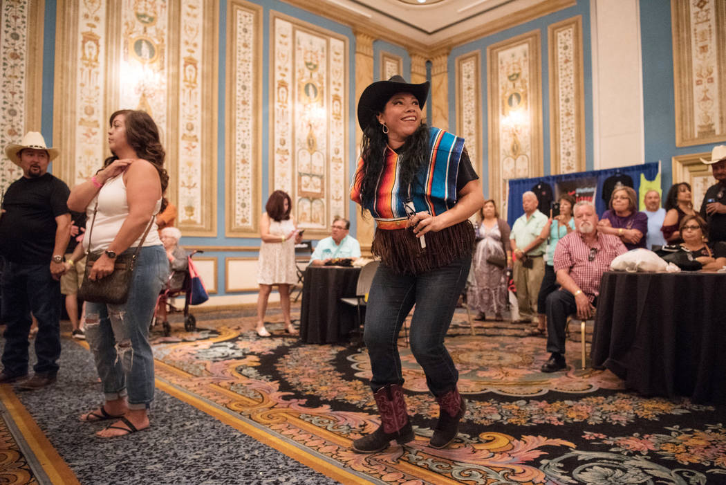 Reyna Gutierrez sways to the music at the Tejano Music National Convention at Paris hotel-casino on Saturday, July 1, 2017, in Las Vegas. Morgan Lieberman Las Vegas Review-Journal