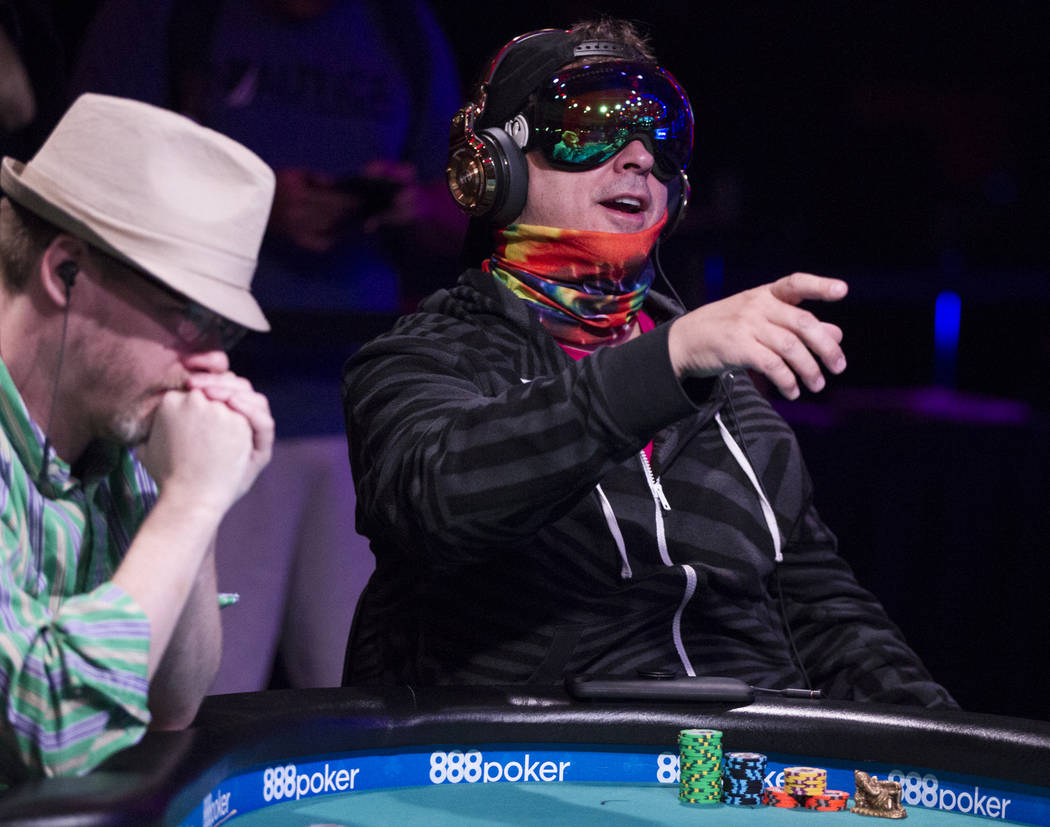 Phil Laak during the World Series of Poker Main Event day 1A at the Rio Convention Center in Las Vegas, Saturday, July 8, 2017. Erik Verduzco Las Vegas Review-Journal @Erik_Verduzco
