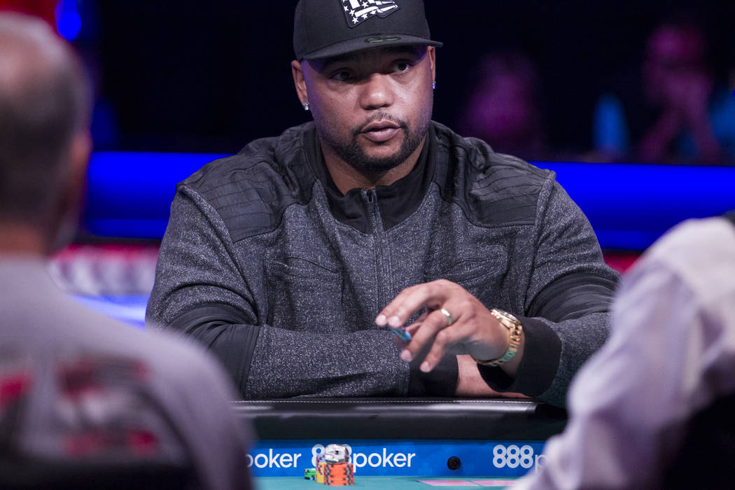Former NFL player Richard Seymor during the World Series of Poker Main Event day 1A at the Rio Convention Center in Las Vegas, Saturday, July 8, 2017. Erik Verduzco Las Vegas Review-Journal @Erik_ ...
